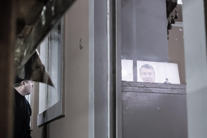 télévision reflet ouzbekistan kirghizstan ex-URSS Asie centrale olivier octobre photographe documentaire reportage