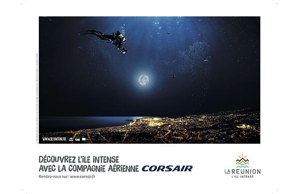 affiche campagne IRT photographe : olivier octobre agence havas réunion tourisme publicité
